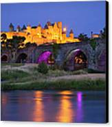 Twilight Over Carcassonne Canvas Print by Brian Jannsen