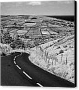 Twisty Country Mountain Road Through Glenaan Scenic Route Glenaan County Antrim  Canvas Print by Joe Fox