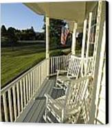 Two Rocking Chairs On A Sunlit Porch Canvas Print by Scott Sroka