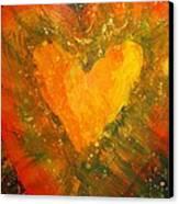 Tye Dye Heart Canvas Print by James Briones