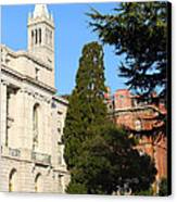 Uc Berkeley . Sather Tower Campanile . Wheeler Hall . South Hall Built 1873 . 7d10040 Canvas Print by Wingsdomain Art and Photography