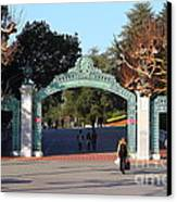 Uc Berkeley . Sproul Plaza . Sather Gate . 7d10020 Canvas Print by Wingsdomain Art and Photography
