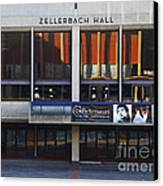 Uc Berkeley . Zellerbach Hall . 7d9989 Canvas Print by Wingsdomain Art and Photography