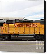 Union Pacific Locomotive Train - 5d18648 Canvas Print by Wingsdomain Art and Photography