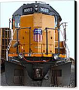 Union Pacific Locomotive Trains . 7d10589 Canvas Print by Wingsdomain Art and Photography