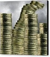 Unstable Economy, Conceptual Image Canvas Print by Victor De Schwanberg