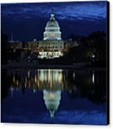 Us Capitol - Pre-dawn Getting Ready Canvas Print by Metro DC Photography