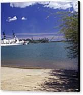 U.s. Coast Guard Cutter Jarvis Transits Canvas Print by Michael Wood