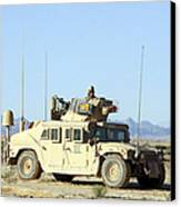 U.s. Marine Standing Ready Canvas Print by Stocktrek Images