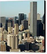 Usa, Texas, Houston, Dwontown, Aerial View Canvas Print by George Doyle