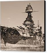 Uss Texas Bw Canvas Print by JC Findley