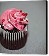 Valentines Cupcake Canvas Print by Malania Hammer