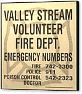 Vallet Stream Fire Department In Sepia Canvas Print by Rob Hans