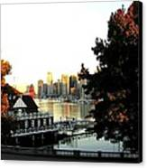 Vancouver At Sundown Canvas Print by Will Borden