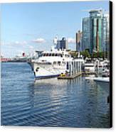 Vancouver Bc Downtown Skyline Panorama Marina Canada. Canvas Print by Gino Rigucci