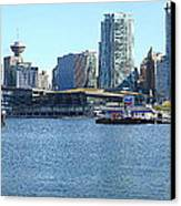 Vancouver Bc Skyline Canada Place Panorama Canada. Canvas Print by Gino Rigucci