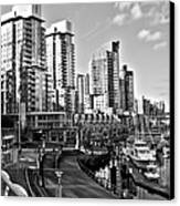 Vancouver Harbour Bw Canvas Print by Kamil Swiatek