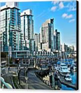 Vancouver Harbour Canvas Print by Kamil Swiatek