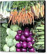 Variety Of Fresh Vegetables - 5d17910 Canvas Print by Wingsdomain Art and Photography