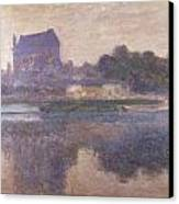Vernon Church In Fog Canvas Print by Claude Monet