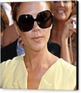Victoria Beckham At Arrivals Canvas Print by Everett