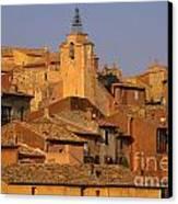 Village De Roussillon. Luberon Canvas Print by Bernard Jaubert