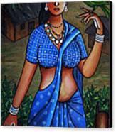 Village Girl Canvas Print by Johnson Moya