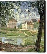 Villeneuve La Garenne Canvas Print by Alfred Sisley