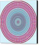 Vintage Color Circle Canvas Print by Atiketta Sangasaeng