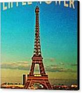 Vintage Eiffel Tower Canvas Print by Flo Karp