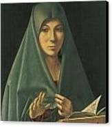 Virgin Annunciate Canvas Print by Antonello Da Messina