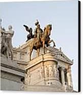 Vittoriano. Monument To Victor Emmanuel II. Rome Canvas Print by Bernard Jaubert