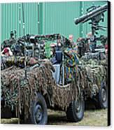 Vw Iltis Jeeps Of A Recce Scout Unit Canvas Print by Luc De Jaeger