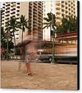 Waikiki Blur Canvas Print by Ashlee Meyer