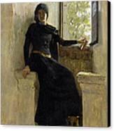 Waiting Canvas Print by Jean Pierre Laurens