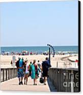 Walking To The Beach Canvas Print by Susan Stevenson