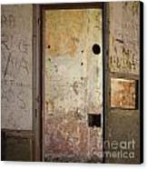 Walls With Graffiti In An Abandoned House. Canvas Print by Bernard Jaubert
