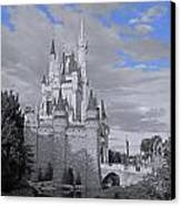 Walt Disney World - Cinderella Castle Canvas Print by AK Photography