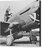 Warhawk P40 1943 Canvas Print by Padre Art