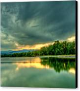 Warren Lake At Sunset Canvas Print by Anthony Doudt