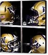 Washington Huskies Football Helmets  Canvas Print by Replay Photos