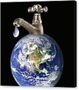 Water Conservation, Conceptual Image Canvas Print by Victor De Schwanberg