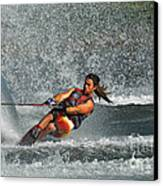 Water Skiing Magic Of Water 15 Canvas Print by Bob Christopher