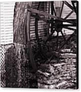 Water Wheel Old Mill Cherokee North Carolina  Canvas Print by Susanne Van Hulst