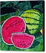 Watermelon Moonshine Canvas Print by Phil Strang