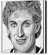 Wayne Gretzky In 1992 Canvas Print by J McCombie