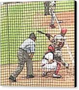 Werth Swings For Phillies Canvas Print by Lani PVG   Richmond