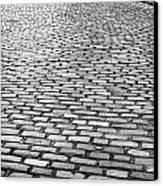 Wet Cobblestoned Huntly Street In The Union Street Area Of Aberdeen Scotland Canvas Print by Joe Fox