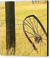 Wheel Looking For A Tractor Canvas Print by Rich Franco