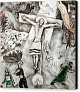 White Crucifixion Canvas Print by Granger